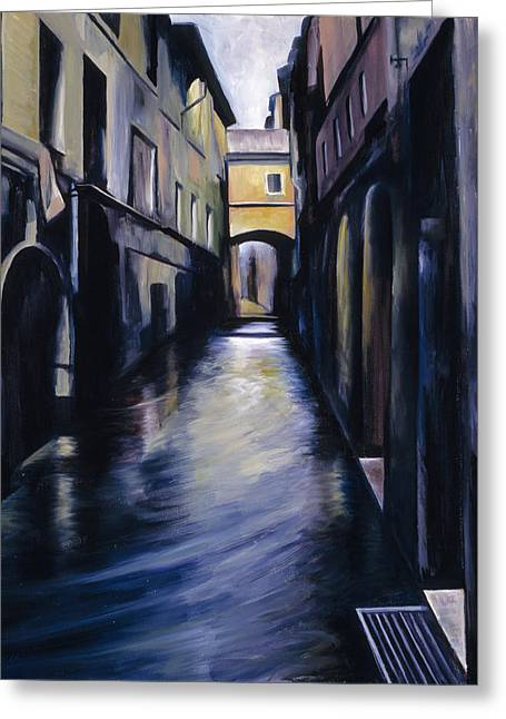 Run Down Paintings Greeting Cards - Venice Greeting Card by James Christopher Hill