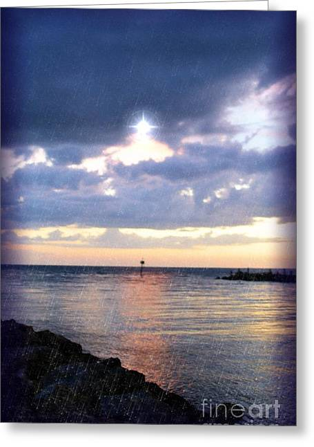 Venice Jetty At Dusk Greeting Card