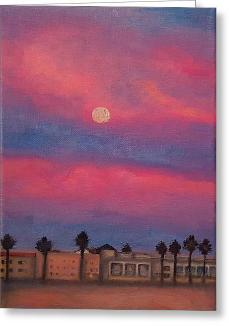 Venice Moonrise Greeting Card by Pia Tohveri
