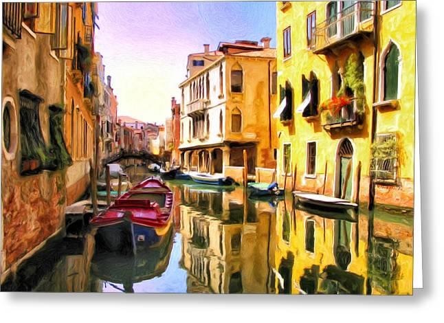 Venice Morning Greeting Card