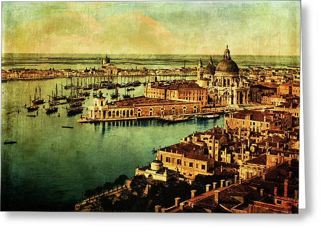 Venice Observed Greeting Card by Sarah Vernon