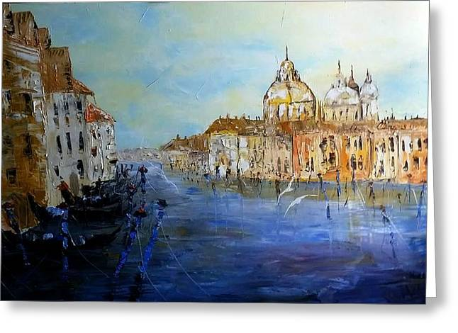 Venice Oil Sketch  Greeting Card