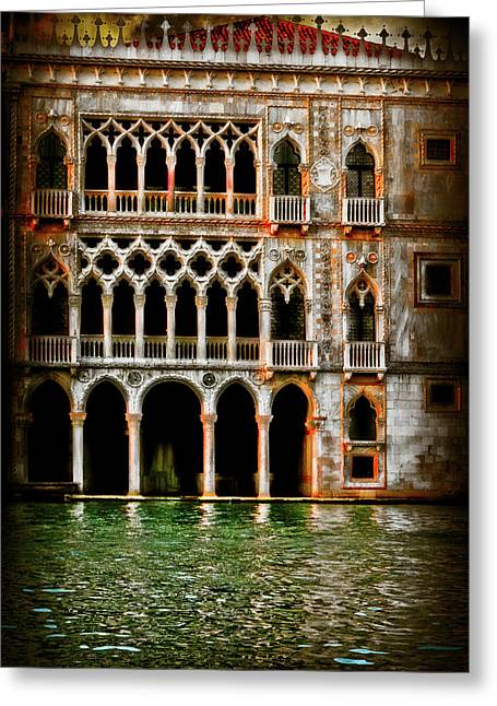 Greeting Card featuring the photograph Venice Palace  by Harry Spitz