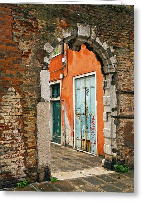 Venice Passage Greeting Card by Art Ferrier
