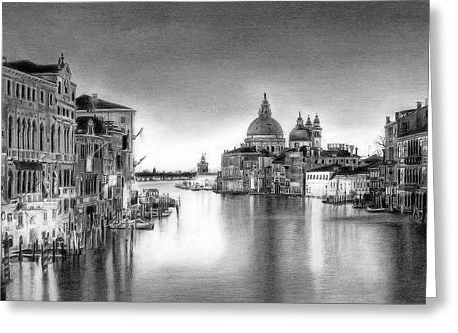 Venice Pencil Drawing Greeting Card