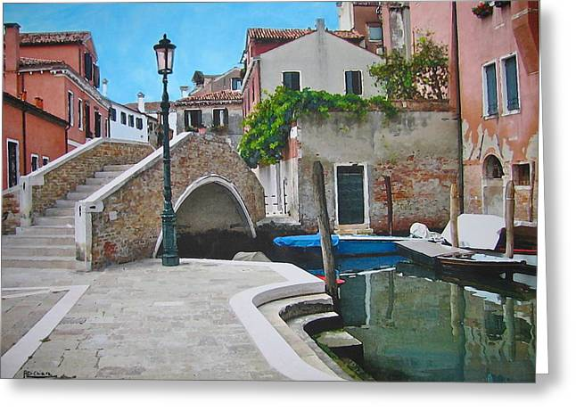 Venice Piazzetta And Bridge Greeting Card