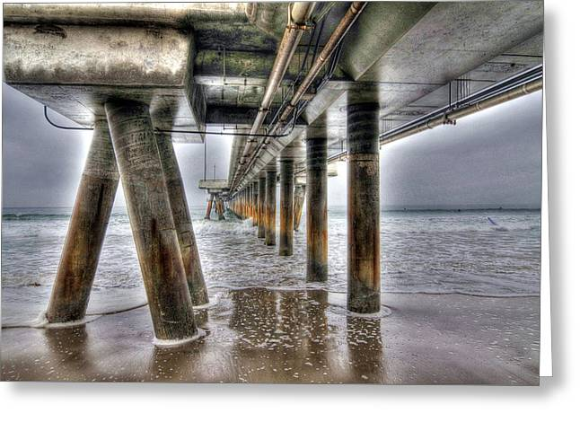 Venice Pier Industrial Greeting Card