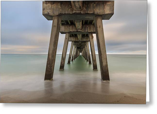 Greeting Card featuring the photograph Venice Pier by Paul Schultz
