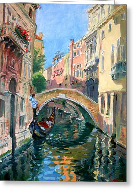 Venice Ponte Widmann Greeting Card by Ylli Haruni