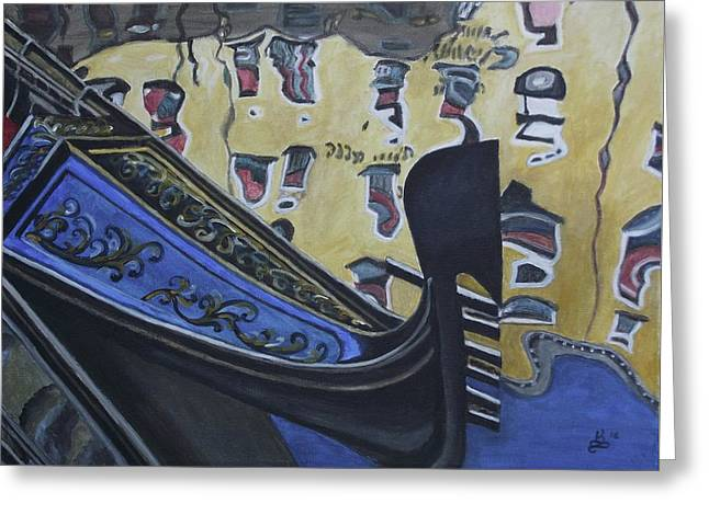Venice Reflection Greeting Card by Kim Selig
