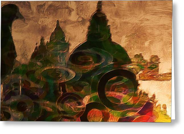 Venice Reflection Greeting Card by Stefano Senise