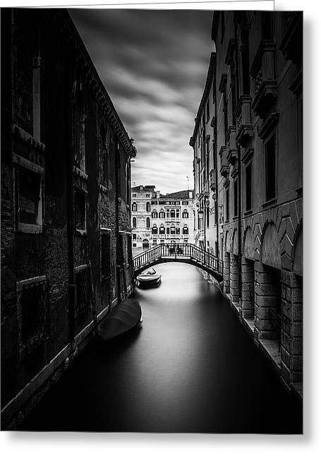 Venice Residential Canal Greeting Card by Andrew Soundarajan