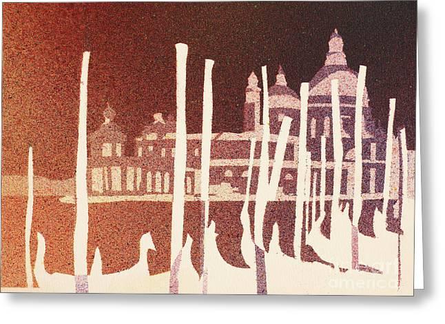 Venice Reversed Greeting Card by Ryan Fox