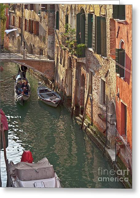 Venice Ride With Gondola Greeting Card by Heiko Koehrer-Wagner