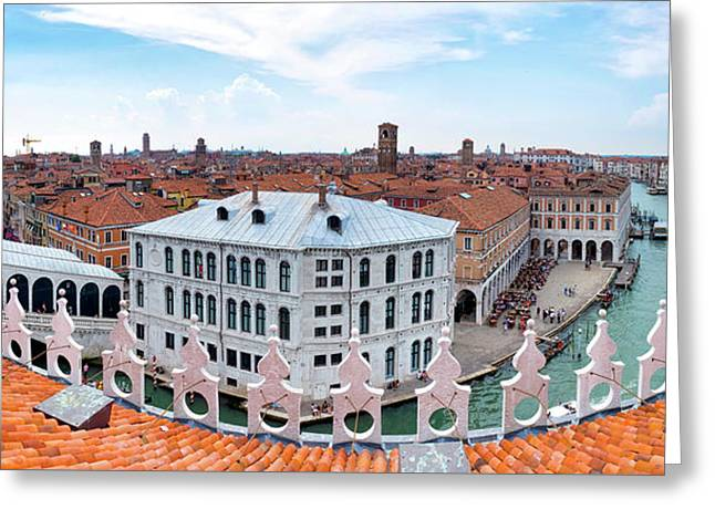 Greeting Card featuring the photograph Venice Rooftops by Fabrizio Troiani