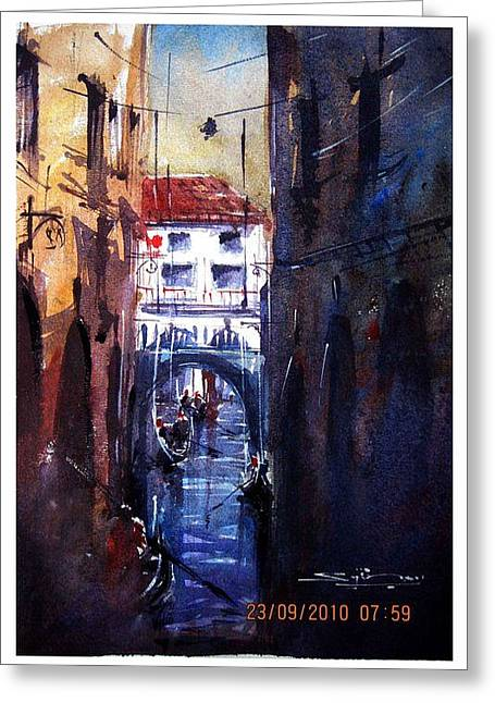 Worldwide Art Gallery Greeting Cards - Venice Greeting Card by Sijimon Siddique