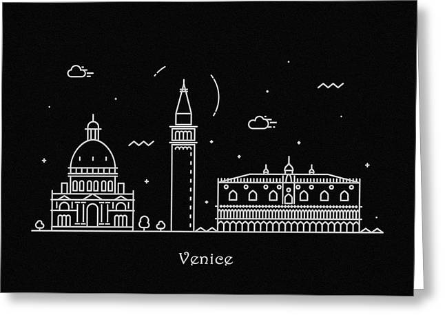 Venice Skyline Travel Poster Greeting Card