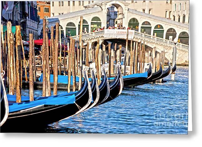Venice Sunny Rialto Bridge Greeting Card by Heiko Koehrer-Wagner