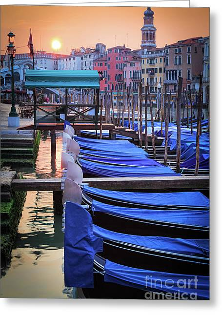 Venice Sunrise Greeting Card by Inge Johnsson