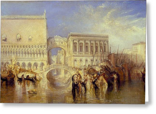 Venice The Bridge Of Sighs Greeting Card by Joseph Mallord William Turner