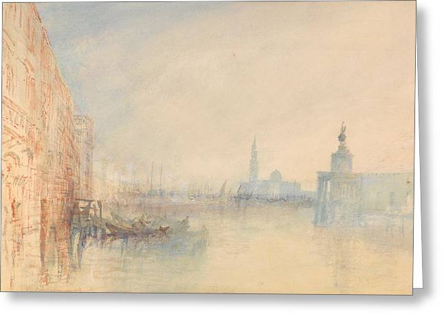 Venice, The Mouth Of The Grand Canal Greeting Card by Joseph Mallord William Turner