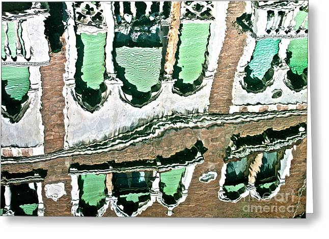 Venice Upside Down 2 Greeting Card by Heiko Koehrer-Wagner