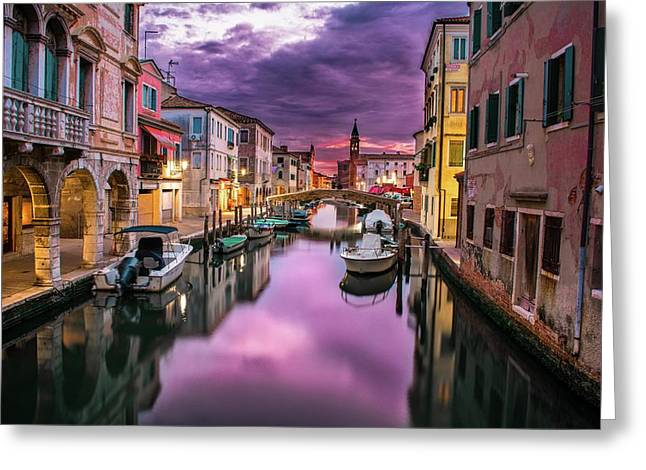 Venice  Greeting Card by Run With Jay