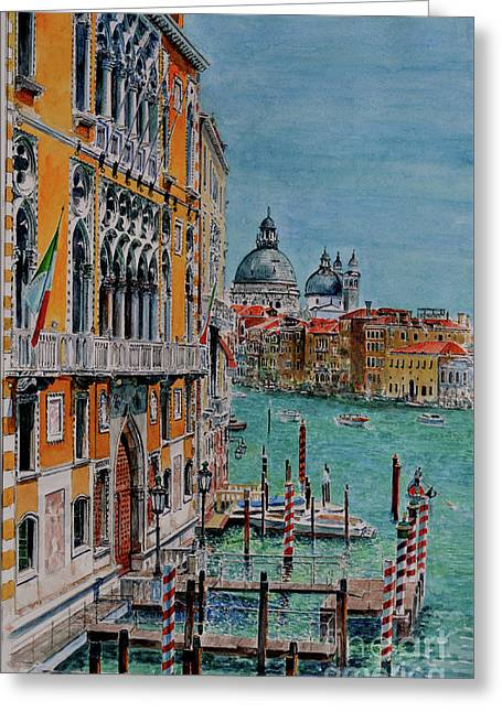 Venice, View From Academia Bridge Greeting Card