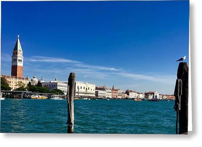 Venice View From Dorsoduro Greeting Card by Marina Usmanskaya
