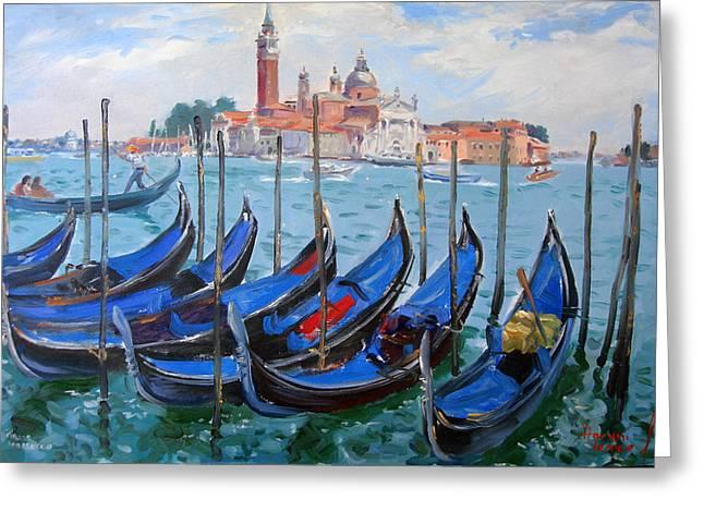 Venice View Of San Giorgio Maggiore Greeting Card by Ylli Haruni