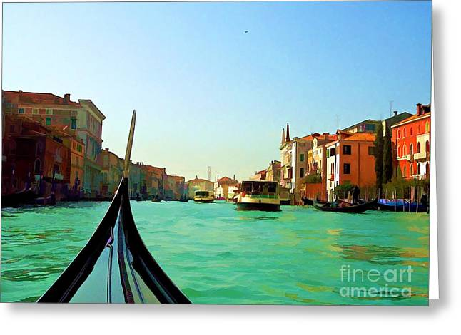 Greeting Card featuring the photograph Venice Waterway by Roberta Byram
