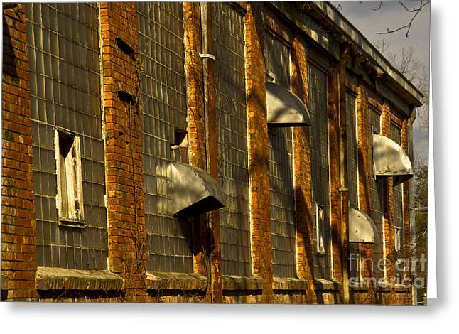 Venting Hot Air The Mary Leila Cotton Mill 1899 Greeting Card by Reid Callaway