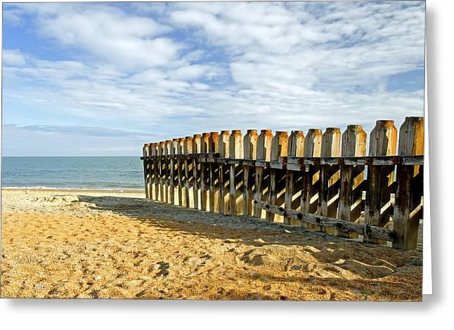 Ventnor Beach Groyne Greeting Card by Rod Johnson