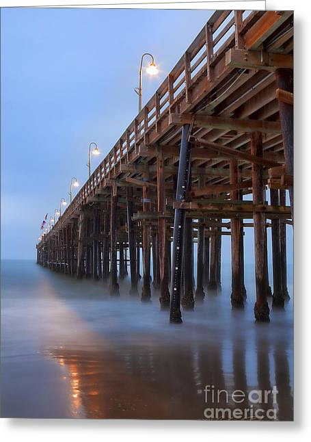 Ventura Ca Pier At Dawn Greeting Card