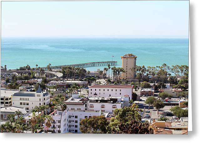 Ventura Coastal View Greeting Card by Art Block Collections