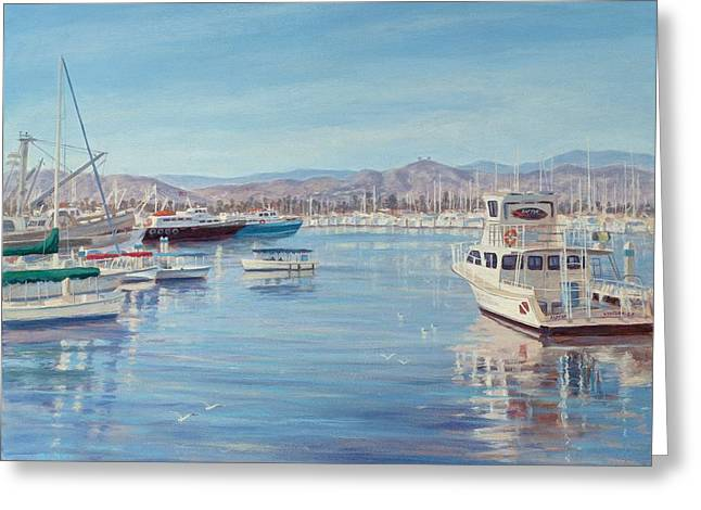 Ventura Harbor II Greeting Card by Tina Obrien