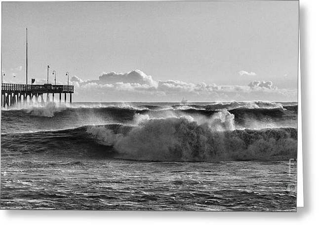 Ventura Pier El Nino 2016 Greeting Card