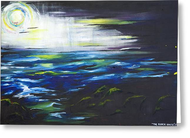 Ventura Seascape At Night Greeting Card by Sheridan Furrer