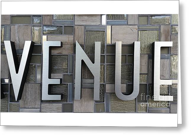 Venue Greeting Card by Liane Wright