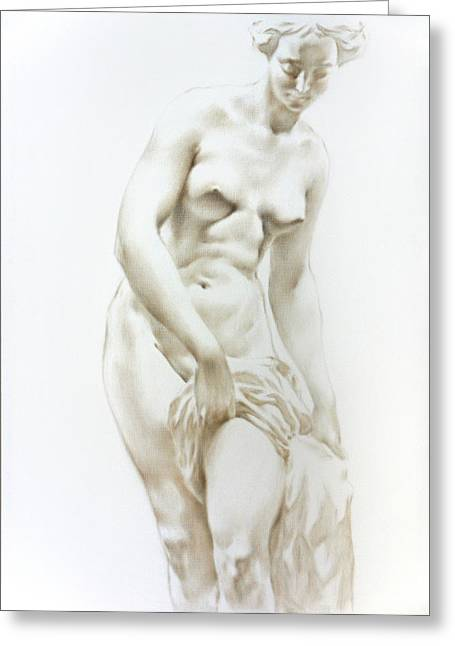 Greeting Card featuring the painting Venus 1a by Valeriy Mavlo