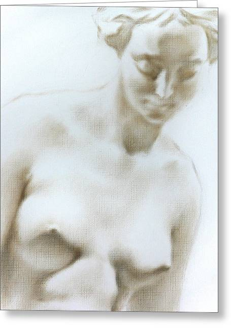 Greeting Card featuring the painting Venus 1d by Valeriy Mavlo