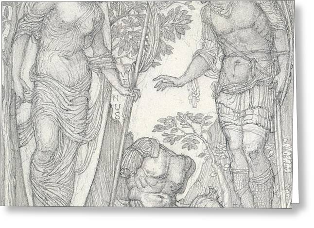 Venus Bringing Armor To Aeneas Greeting Card by Sir Edward Coley Burne-Jones