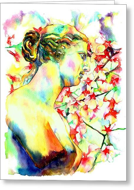 Venus De Milo Greeting Card by Christy  Freeman