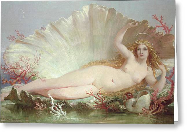Venus Greeting Card by Henry Courtney Selous
