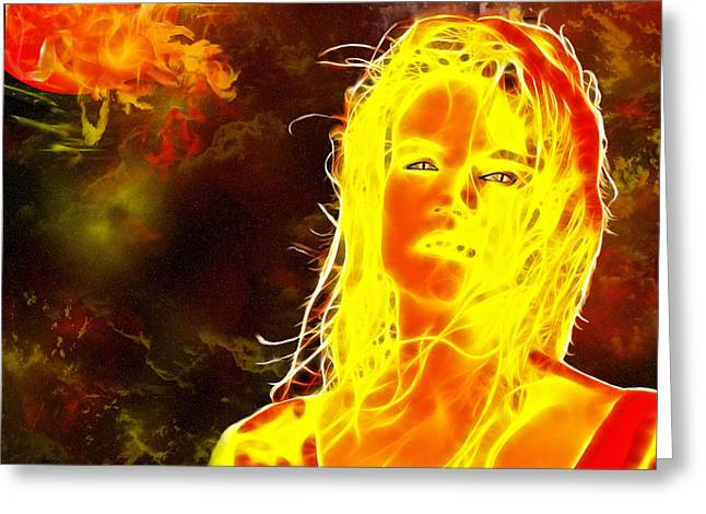 Solar Flare Greeting Cards - Venus Is Home Greeting Card by Methune Hively