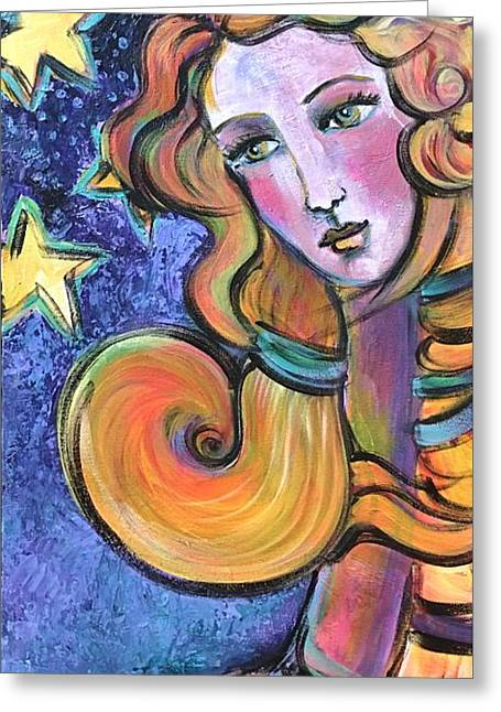 Greeting Card featuring the painting Venus Of Barbosso  by Laurie Maves ART