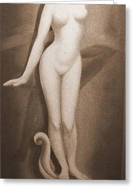 Greeting Card featuring the painting Venus by Sorin Apostolescu