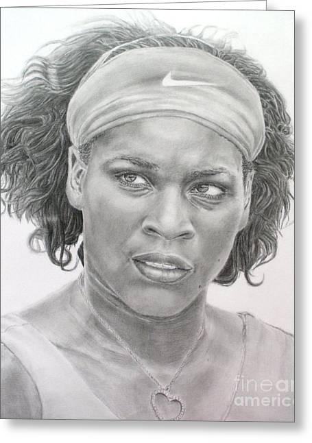Venus Williams Greeting Card by Blackwater Studio