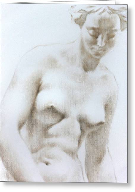 Valeriy Mavlo Drawings Greeting Cards - Venus1c Greeting Card by Valeriy Mavlo