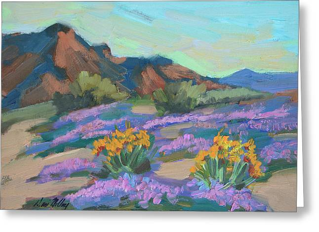 Verbena And Spring Greeting Card by Diane McClary